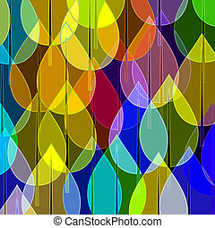 pattern with Christmas balls - Many coloured balls in...