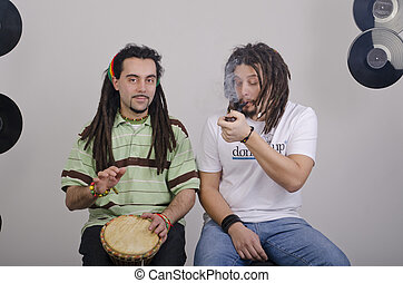 Musical rehearsal - Rasta band during the musical rehearsal