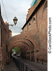 Romanesque church buttress - Buttress of Santi Giovanni e...
