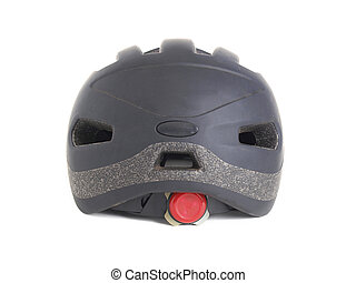 Black helmet on white background - Black helmet on white....