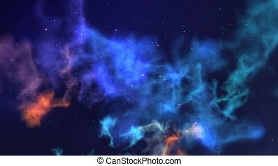 Nebula Journey - Slowly travelling through colorful nebula...