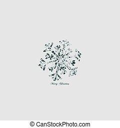 Elegant snowflake floral - vintage