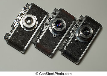 olds cameras - three olds cameras for 35mm film