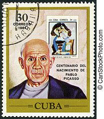 Cuba, -, 1981:, mostra, PABLO, picasso, (1881-1973),...