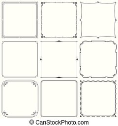 Decorative frames (set 33)