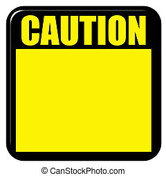 3D Caution Sign - 3d caution sign isolated in white