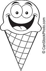 cartoon ice cream cone