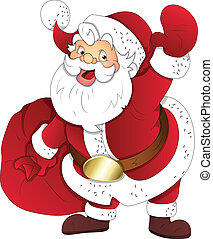 Santa Claus Christmas Vector - Creative Abstract Conceptual...