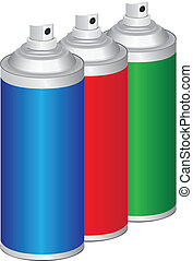 Set of sprays for household and industrial work. Vector...