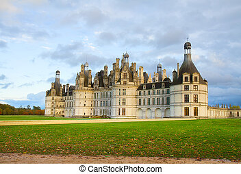 Chambord castle, Loire valley,F rance - Chambord castle in...