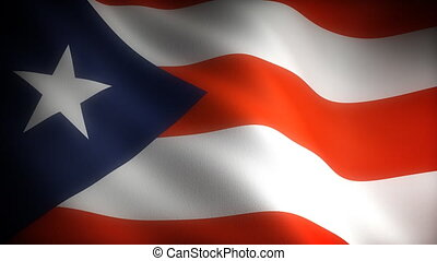 Flag of Puerto Rico seamless
