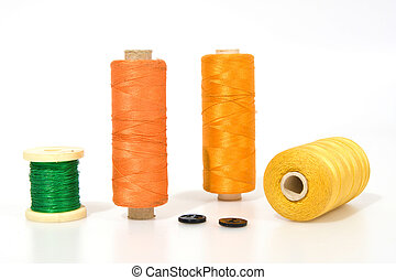 Thread isolated on a white background