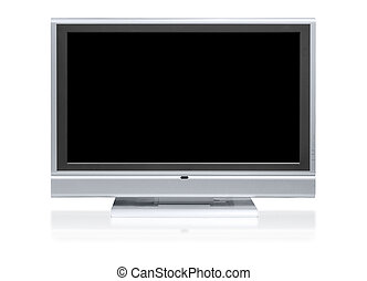 Flat television isolated on white