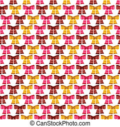 Valentine vector seamless pattern of glossy bows.