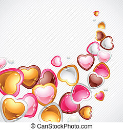 Valentine's Day vector background. Gift card and flier.
