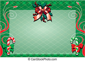 Christmas Background 2 - Vector Illustration of a decorative...