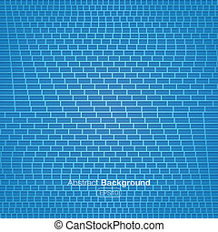 Walls blue bricks pattern - Vector illustration