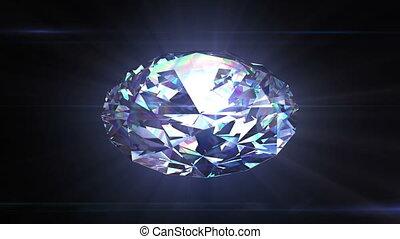 Diamond spinning looped animation - Diamond spinning in...
