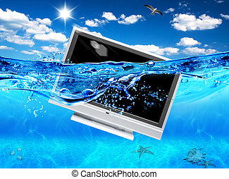 Design of TV in sea Ecological electronics