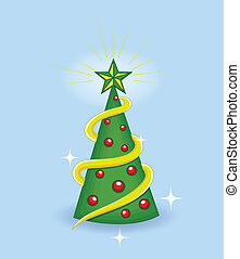 Cartoon Tree - Christmas Vector