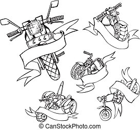 motorcycle templates with ribbons - Motorcycle templates...