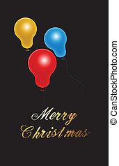 Christmas Balloons Vector