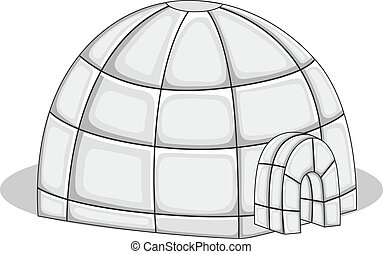 Igloo - Vector Illustration - Creative Abstract Conceptual...