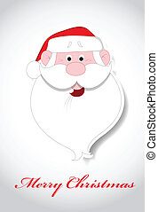 Santa Face Christmas Vector - Creative Abstract Conceptual...