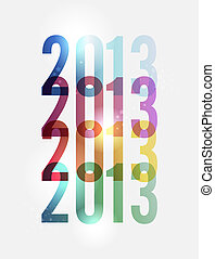 Modern Happy New year 2013 - Contemporary happy New year...