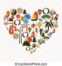 Chinese New Year of the Snake heart love - Chinese New Year...