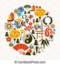 Chinese New Year of the Snake circle - Chinese New Year of...