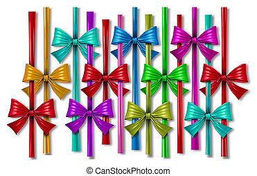 Ribbon Bow Design Element - Ribbon bow design element with a...