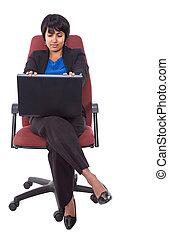 Hispanic businesswoman