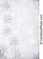 Winter Snow Background - Winter snow background with...