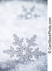 Snowflake decoration, winter holiday background