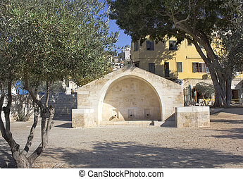 source of the Virgin Mary, Nazareth - modern building over...