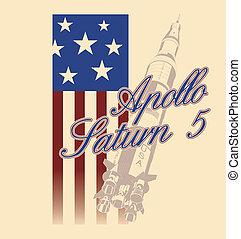Apollo 5 Saturn - Saturn Rocket USA