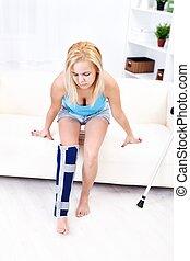 Painful leg injury