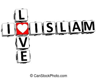 3D I Love Islam Crossword