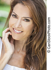 Portrait of A Beautiful Middle Aged Woman - Outdoor portrait...