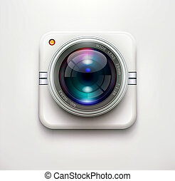 security camera - Vector illustration of a single detailed...