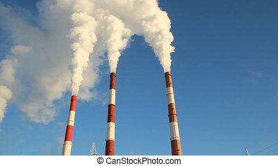 Thermal power plant, the smoke from the chimney Generation