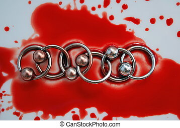 Blood and circulars for piercing - Blood circulars for...