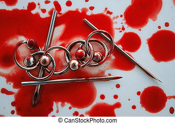Blood & circulars, needles for piercing, modification