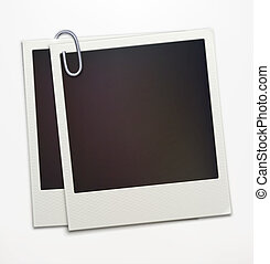 polaroid photo frames - Vector illustration of two blank...