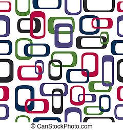 Seamless retro squares