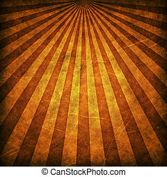 Brown grunge sunbeams background or texture
