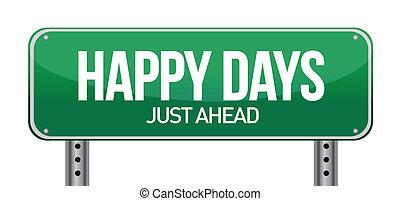 conceptual image, Happy days ahead. - conceptual image,...