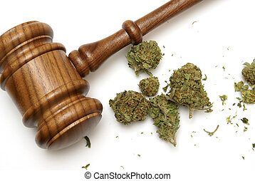 Law and Marijuana - Marijuana and a gavel together for many...