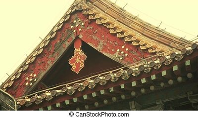 Carved beams and painted buildings - Carved beams painted...